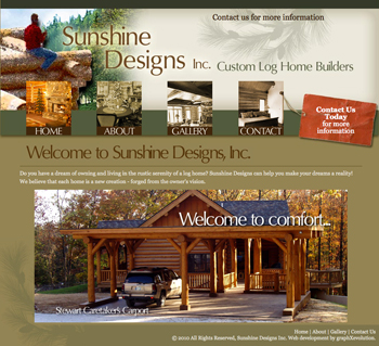 Sunshine Designs Website by gXe a WebDesign Company