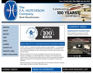 PA Hutchison Book Manufacturer Website Redesign