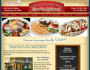 Website Redesign Coopersburg Diner