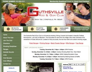 Website Redesign - Guthsville Rod and Gun Club