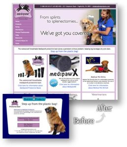 Medivet Products Website Redesign