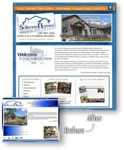 Sollenne Homes Website Redesign