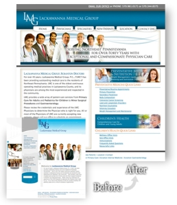 Lackawanna Medical Group Website Redesign