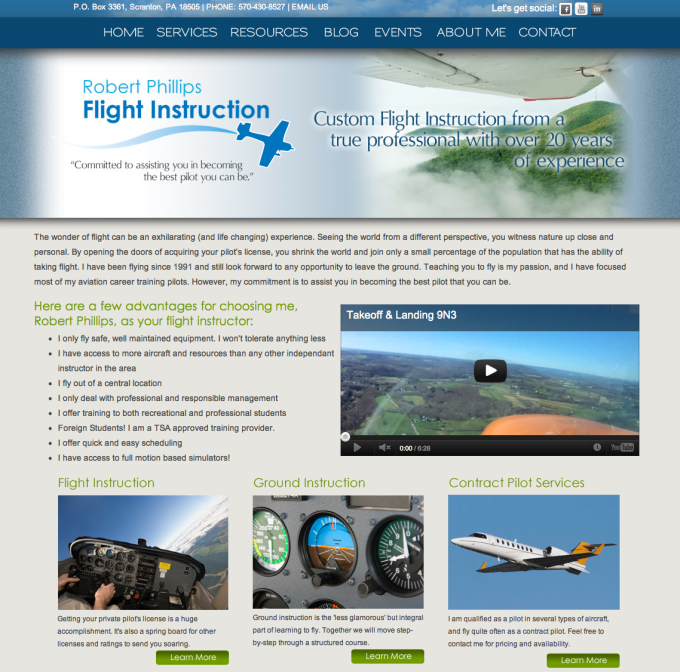 Allentown PA Web Redesign of RP Flight