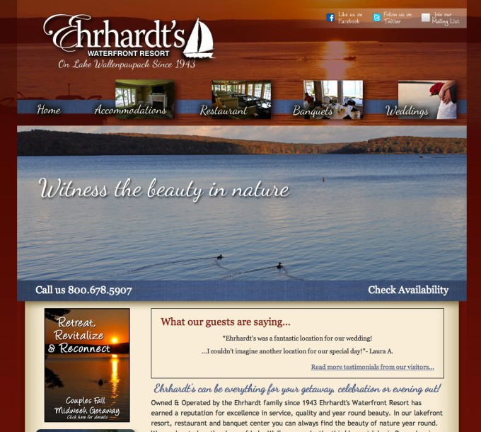 Ehrhardt's Website Redesign and Web Development